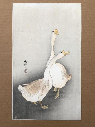 Two White Geese Ohara Koson