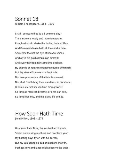 33 poems