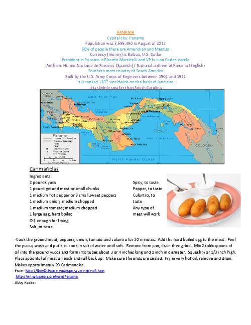 Period 5 Spanish II Cookbook
