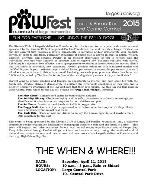 Pawfest 2015 Information