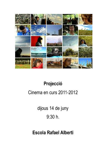 Programa projecció Cinema en curs