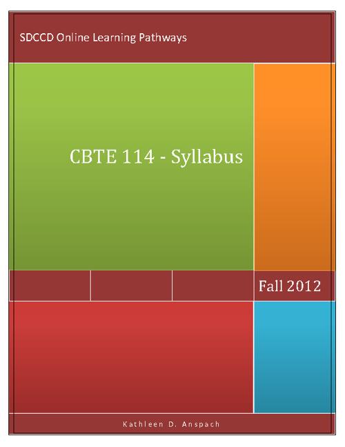 CBTE 114 - Fall 2012