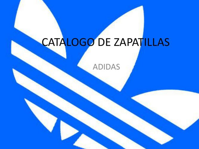 CATALOGO DE ZAPATILLAS