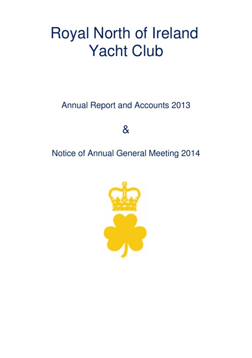 RNIYC Annual Report and Accounts 2013