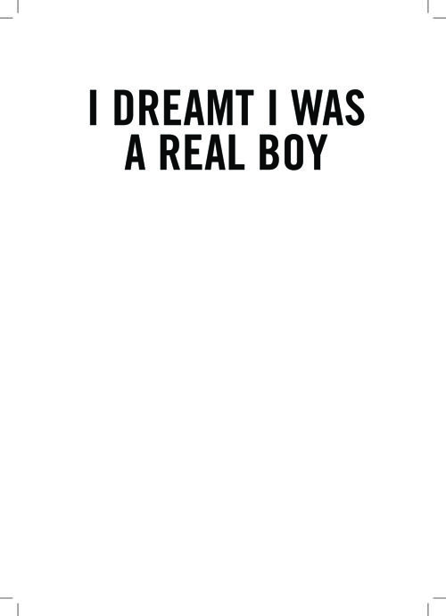 I Dreamt I Was A Real Boy