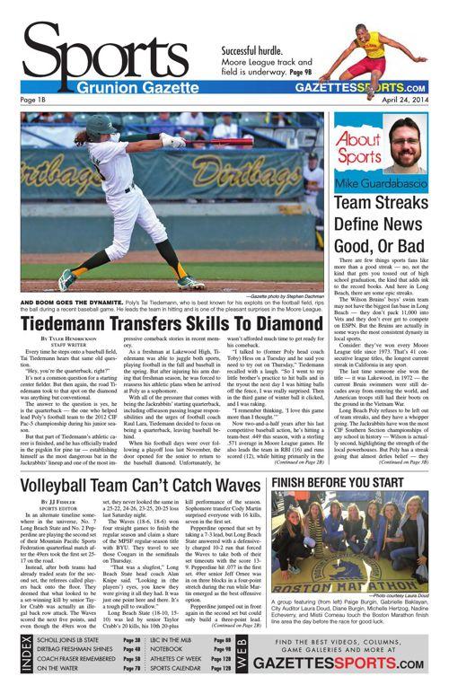 Gazette Sports   April 24, 2014