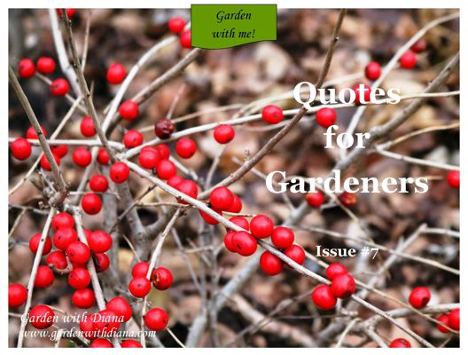 Quotes for Gardeners - Winter - Issue #7