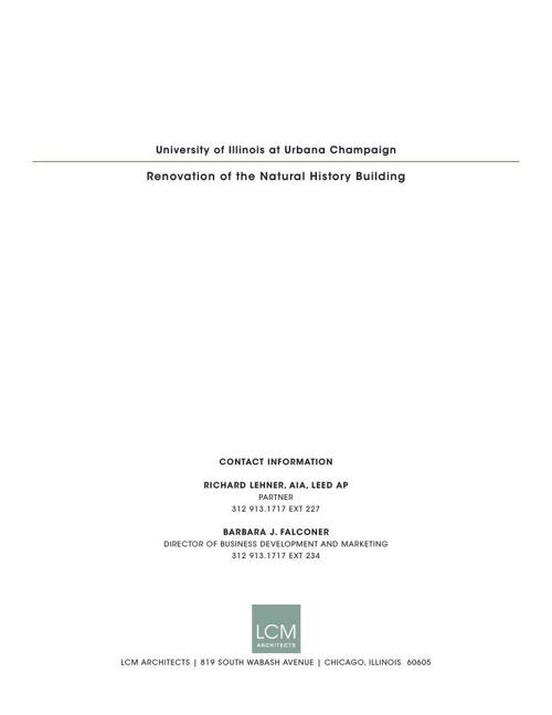 UNIVERSITY OF ILLINOIS AT URBANA CHAMPAIGN - NATURAL HISTORY BUI