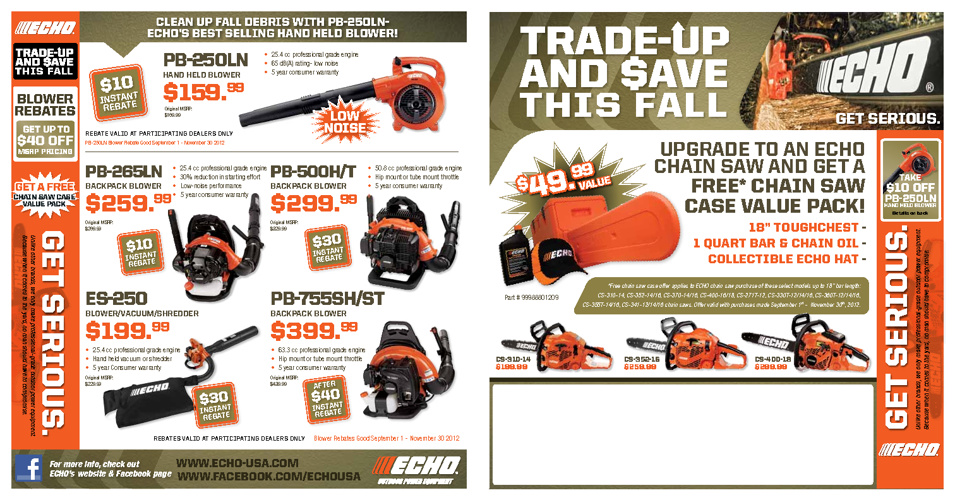 TRADE UP AND SAVE THIS FALL