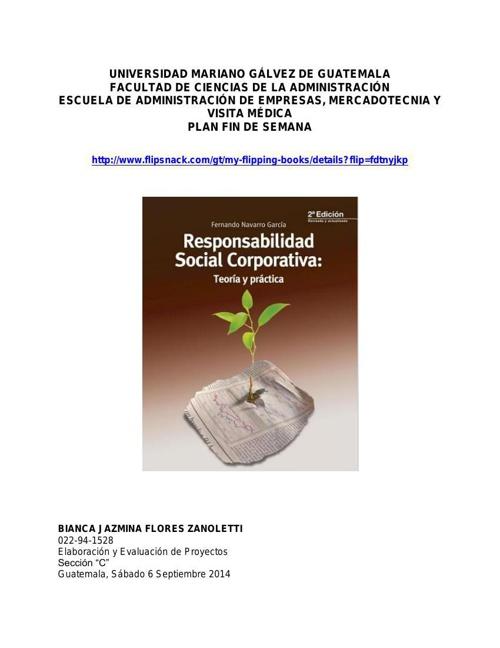 Responsabilidad Social Corporativa - Bianca Flores
