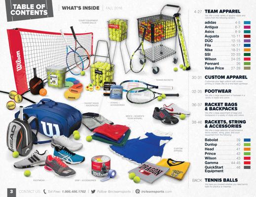 IRC Team Sports - Fall 2016 Team Sports Catalog