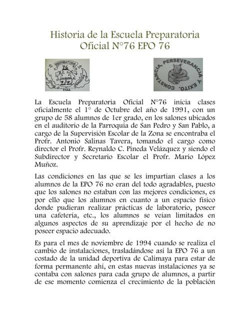 Historia EPO 76