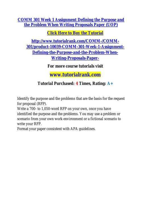 COMM 301 learning consultant / tutorialrank.com