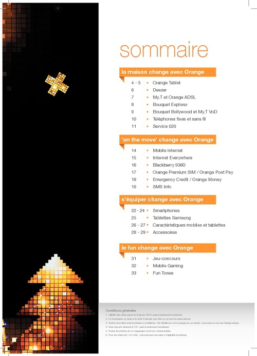 Orange Magalogue 2012