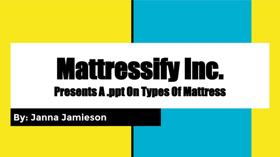 Different Types of Mattress For Your Bedroom