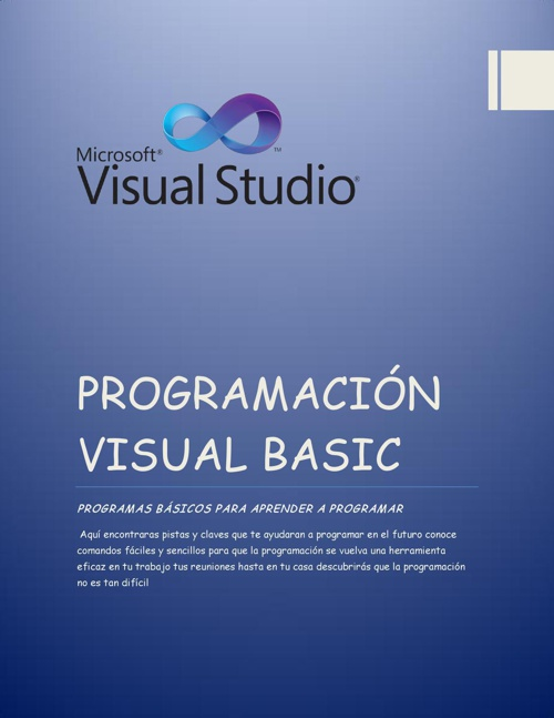Programando en Visual Basic