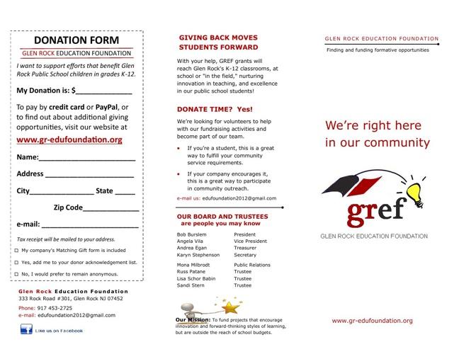 GR Edu Foundation brochure