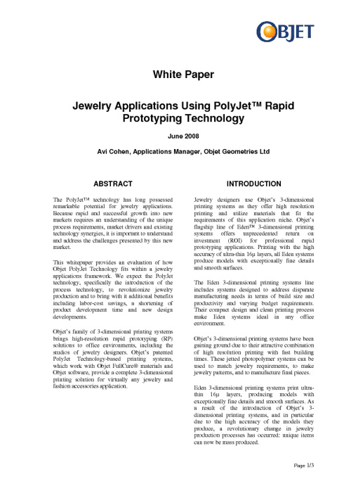 Jewelry Applications