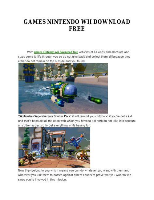 GAMES NINTENDO WII DOWNLOAD FREE