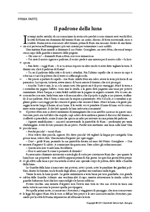 I.N.V.A.L.S.I. Prova di italiano testo narrativo