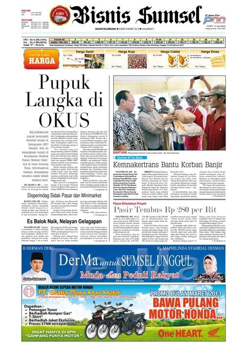Radar Palembang Edisi 08-03-2013 Koran 2