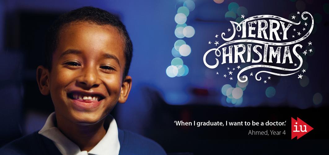 IntoUniversity Christmas card 2014