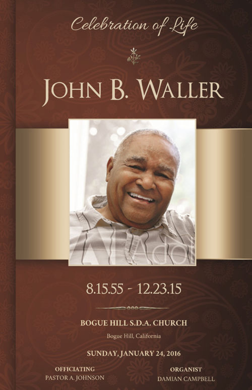 Copper Funeral Program Publisher Template