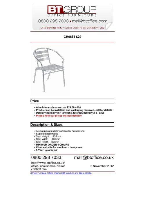 Bistro Furniture & Seating (1-50)