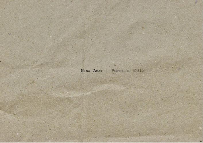 Nina Amat | Portfolio 2013