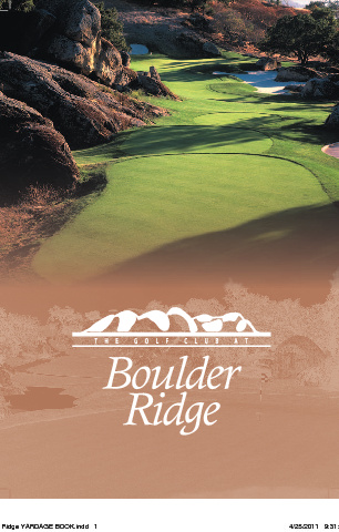 Boulder Ridge Yardage Book