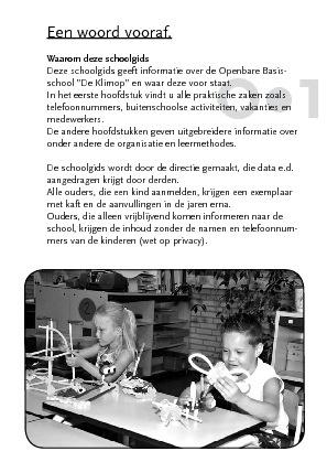 Klimop Schoolgids