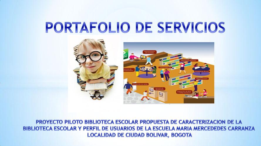 PORTAFOLIO BIBLIOTECA ESCOLAR