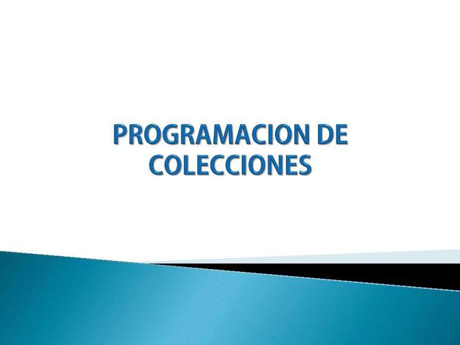 PROGRAMACION DE COLECCION SUSY