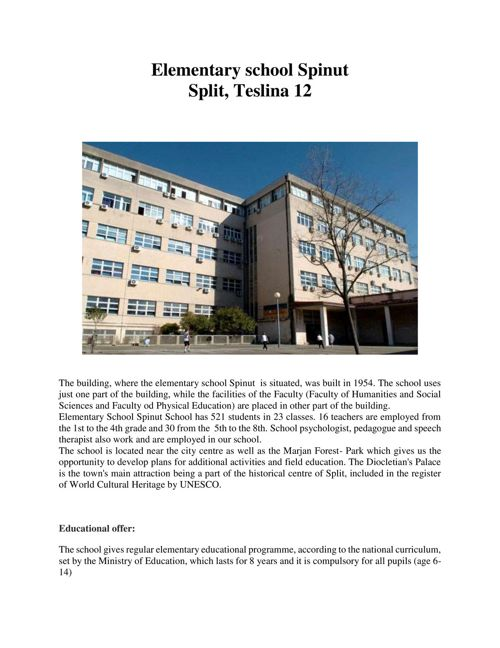 Jos shadowing activity - Elementary school Spinut Split