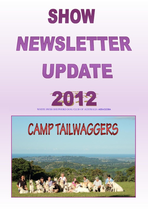 National Show 2012 Newsletter update
