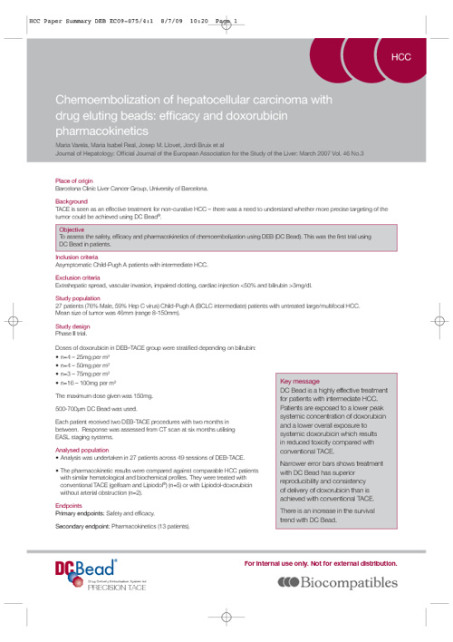 Clinical Summary:  Journal of Hepatology, Varela