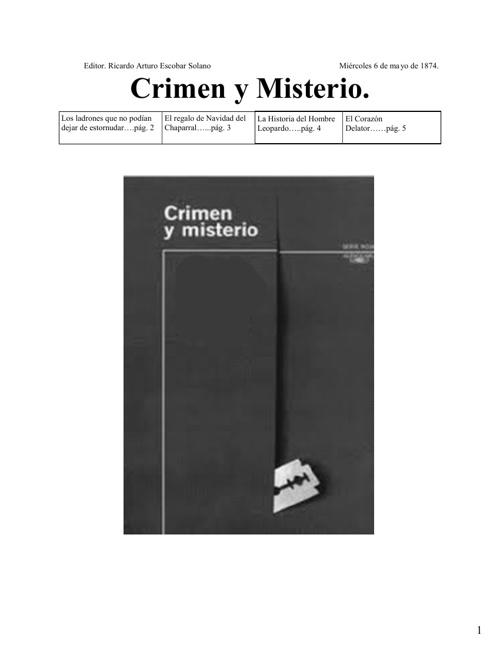 crimen y misterio