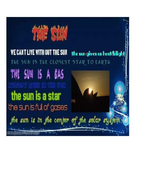 The Sun Poster Part 1