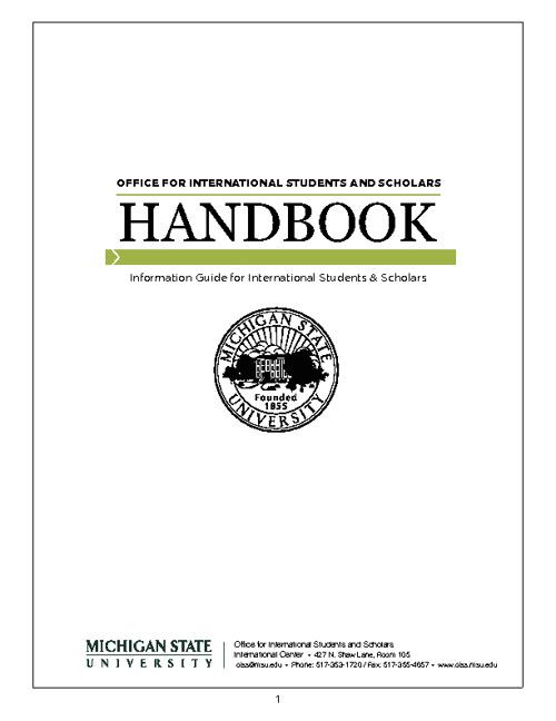 Welcome Handbook