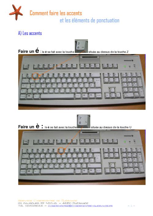 Atelier 1 : Utlisation du clavier
