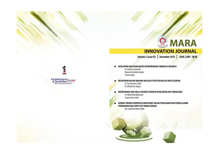 Jurnal Inovasi MARA 2013