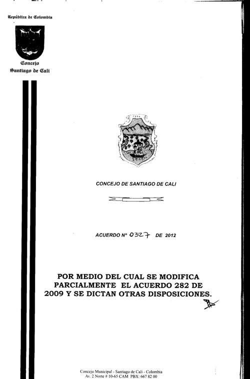 Acuerdo 327-12