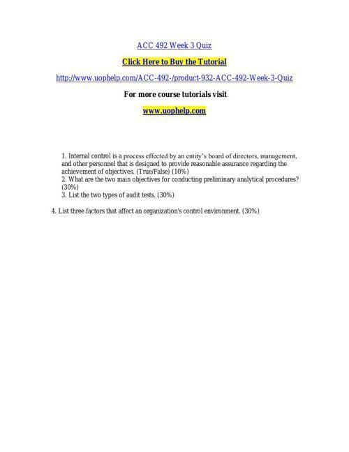 ACC 492 Week 3 Quiz
