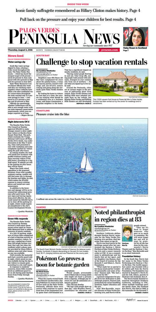Peninsula News | August 4, 2016