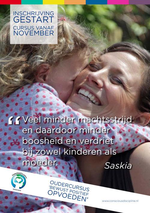 Informatieflyer Oudercursus Conscious Discipline Nederland