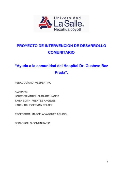 Proyecto Intervención