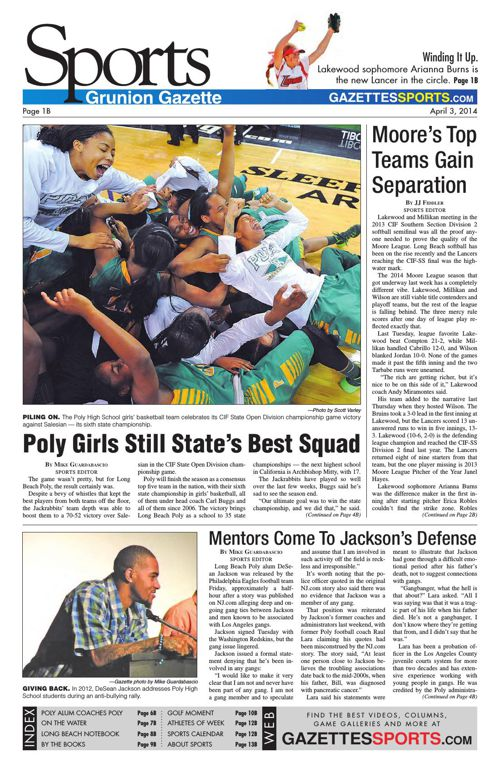 Gazette Sports   April 3, 2014