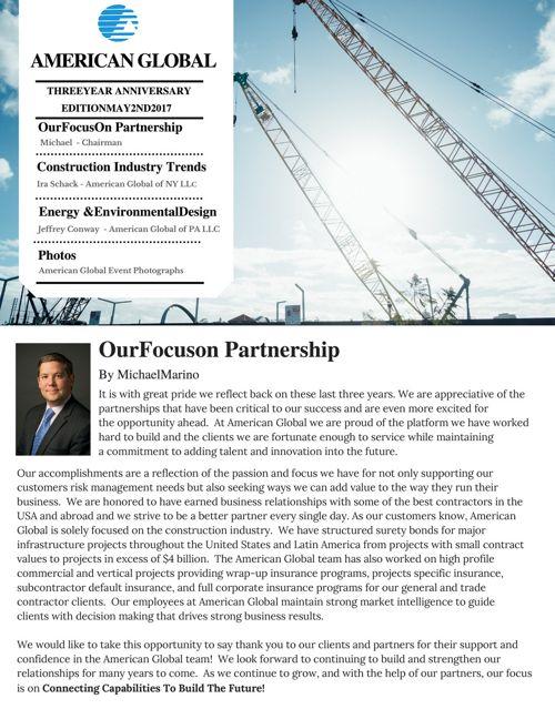 Three Year Anniversary Newsletter Edition May 2, 2017