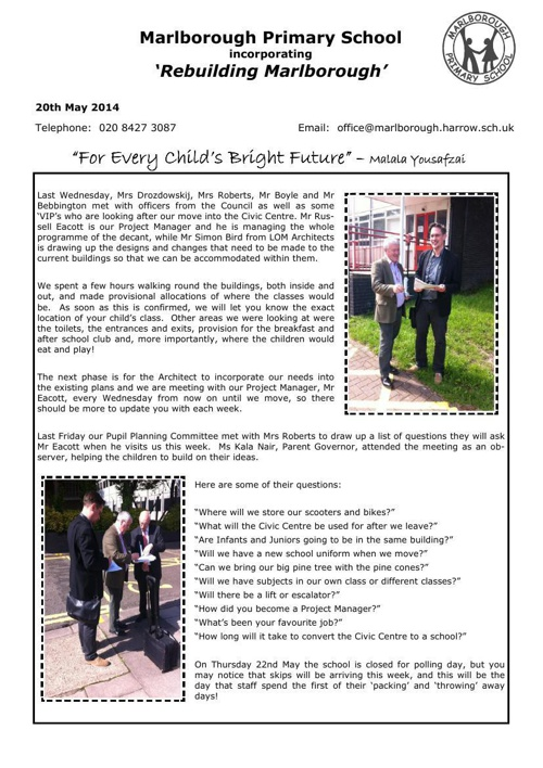 newsletter 20th may 2014