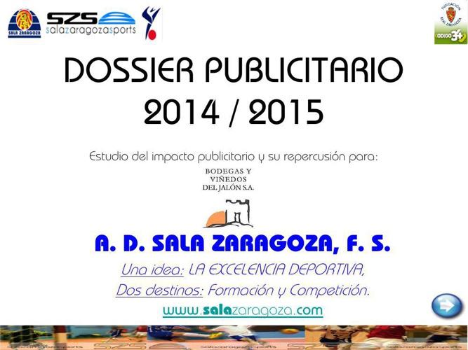 DOSSIER PUBLICITARIO 2014_15 CASTILLO DE MALUENDA